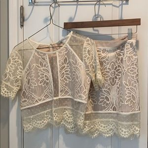 Lovers + friends lace matching set